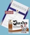 Prüfungsmarke + Urkunde 2.Kyu (blau) + Begleitheft 1.Kyu (braun)